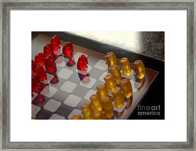 Knight Takes Pawn Framed Print