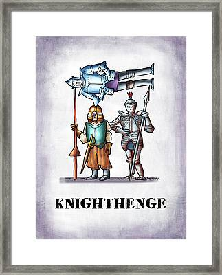 Knighthenge Framed Print