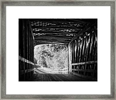 Knights Ferry Covered Bridge Framed Print by Troy Montemayor