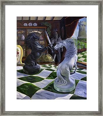 Knight's Magic Framed Print by Jeanne Newton Schoborg