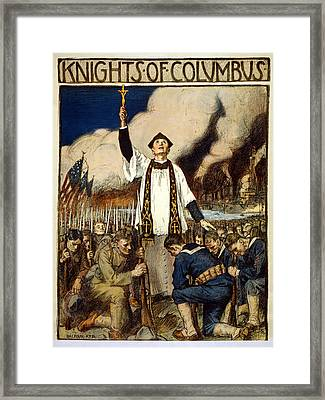 Knights Of Columbus, 1917 Framed Print by William Balfour Kerr