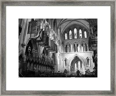 Knights Of St Patrick Bw Framed Print by Mel Steinhauer