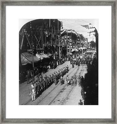Knights Templar Parade Framed Print by Granger