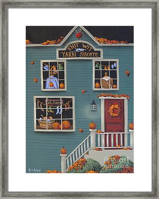 Knit Wit Yarn Shoppe Framed Print by Catherine Holman