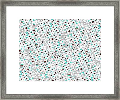 Knitted Pattern 1 Framed Print by Larry Black