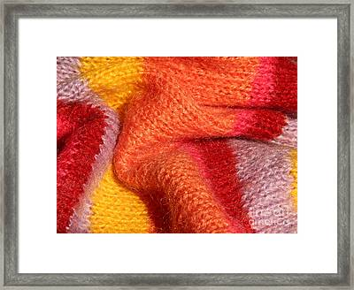 Knitted Textile Framed Print by Kerstin Ivarsson