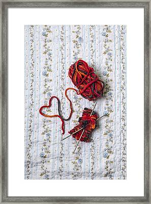 Knitted With Love Framed Print by Joana Kruse