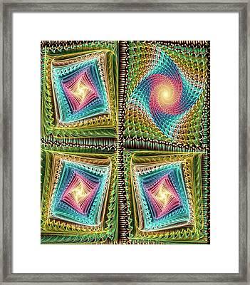 Knitting Framed Print by Anastasiya Malakhova