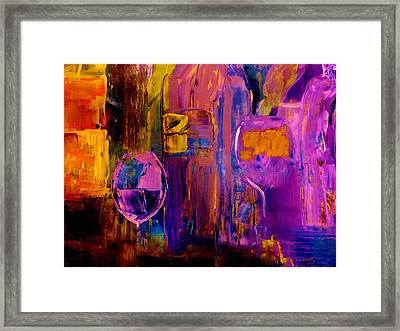 Wine Glass Ice Sculpture Framed Print by Lisa Kaiser