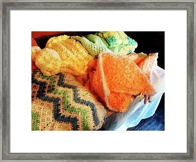 Knitting For Baby Framed Print