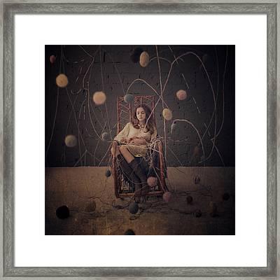 Knitting In November Framed Print by Anka Zhuravleva