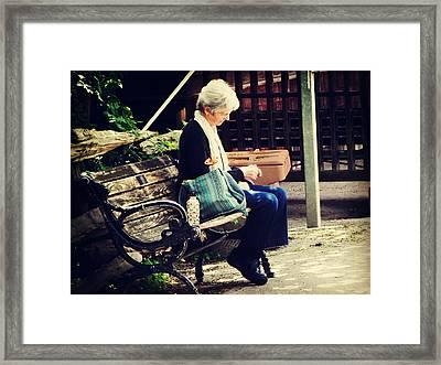 Knitting Time Framed Print
