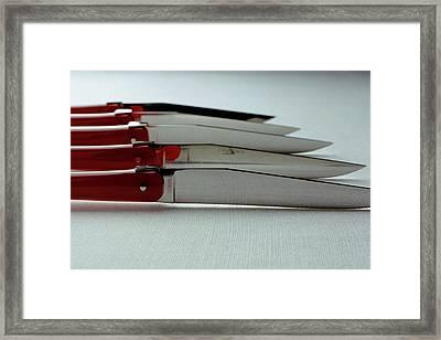 Knives Framed Print by Romulo Yanes