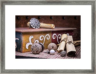Knobs And Such Still Life Framed Print by Tom Mc Nemar