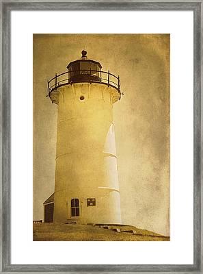 Knobska Point Light Lighthouse Woods Hole Ma Framed Print by Suzanne Powers