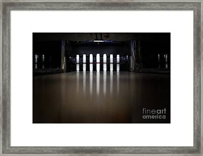 Knock Em Down Framed Print by Luke Moore