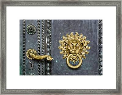 Knock Framed Print by Gabor Fichtacher