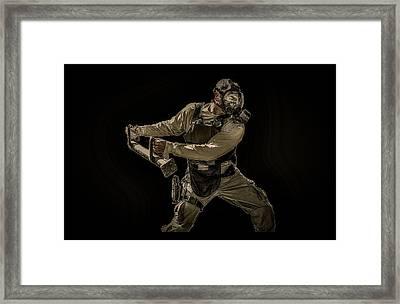 Knock Knock Framed Print by David Morefield