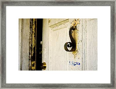 Knock Knock Framed Print