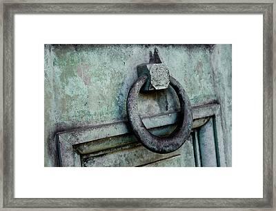 Knock Framed Print