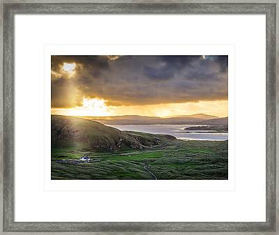 Knockamany Bends Framed Print by Kevin Moore