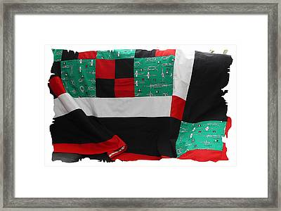 Knots On A Quilt With Digital Border Framed Print by Barbara Griffin