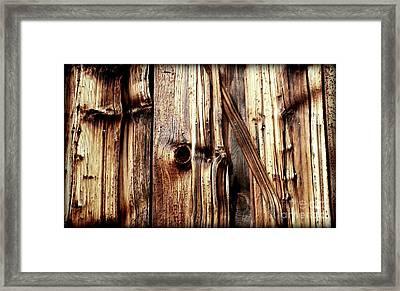 Knotty Wood Grain Framed Print by Janine Riley