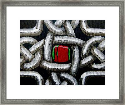 Knotwork With Gem Framed Print