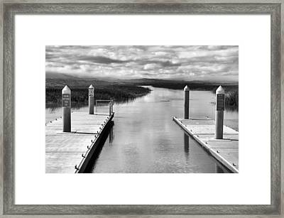 Know Before You Go Framed Print by Bob Wall