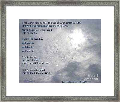 Framed Print featuring the photograph Knowing Love  by Christina Verdgeline