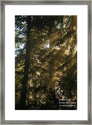 Knowing The Way Framed Print by Jeff Swan
