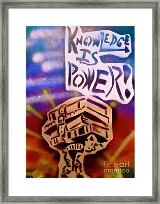 Knowledge Is Power 1 Framed Print by Tony B Conscious