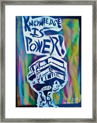 Knowledge Is Power 5 Framed Print by Tony B Conscious