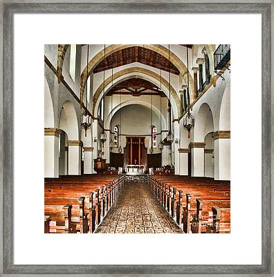Knowles Memorial Chapel Rollins College 2 By Diana Sainz Framed Print