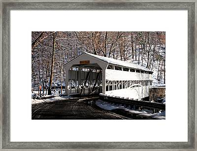 Knox Bridge In The Snow Framed Print