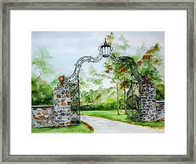 Knox Estate Framed Print
