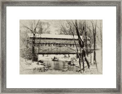 Knox Valley Forge Covered Bridge Framed Print by Bill Cannon