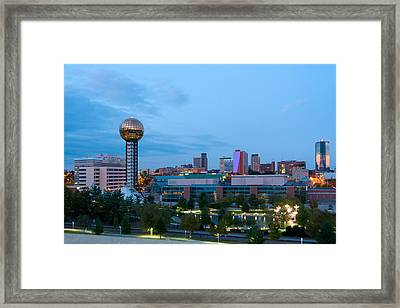 Knoxville At Dusk Framed Print