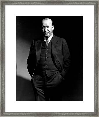 Knute Rockne Standing  Framed Print by Retro Images Archive