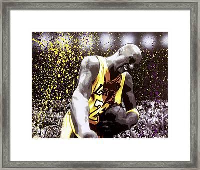 Kobe Framed Print by Bobby Zeik