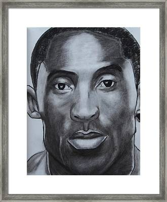 Kobe Bryant Framed Print by Aaron Balderas
