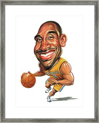 Kobe Bryant Framed Print by Art