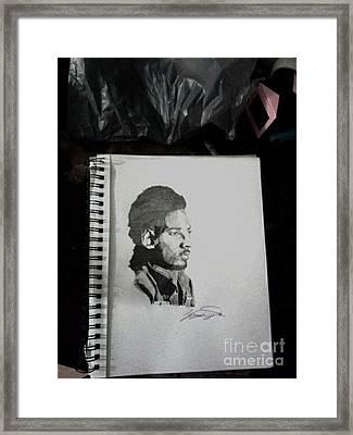 Kobe Bryant Framed Print by Corey Wise