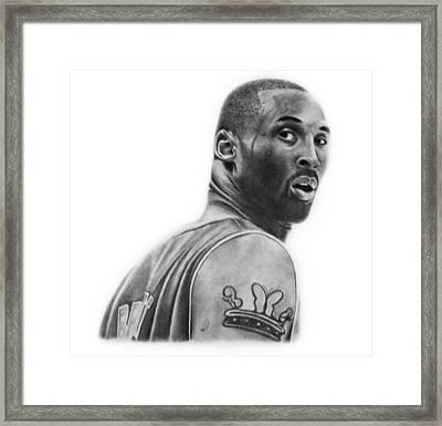 Kobe Bryant Framed Print by Don Medina