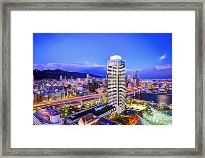 Kobe Japan Framed Print by Sean Pavone