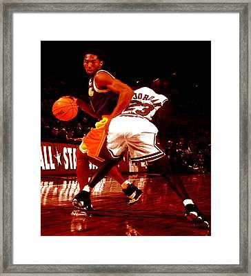 Kobe Spin Move Framed Print