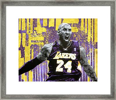 Kobe The Destroyer Framed Print by Bobby Zeik