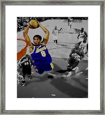 Kobe Took Flight II Framed Print