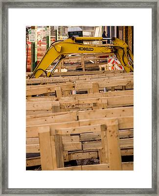 Kobelco Framed Print by Carl Engman