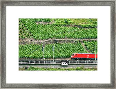 Koblenz, Germany, A High Speed Train Framed Print by Miva Stock